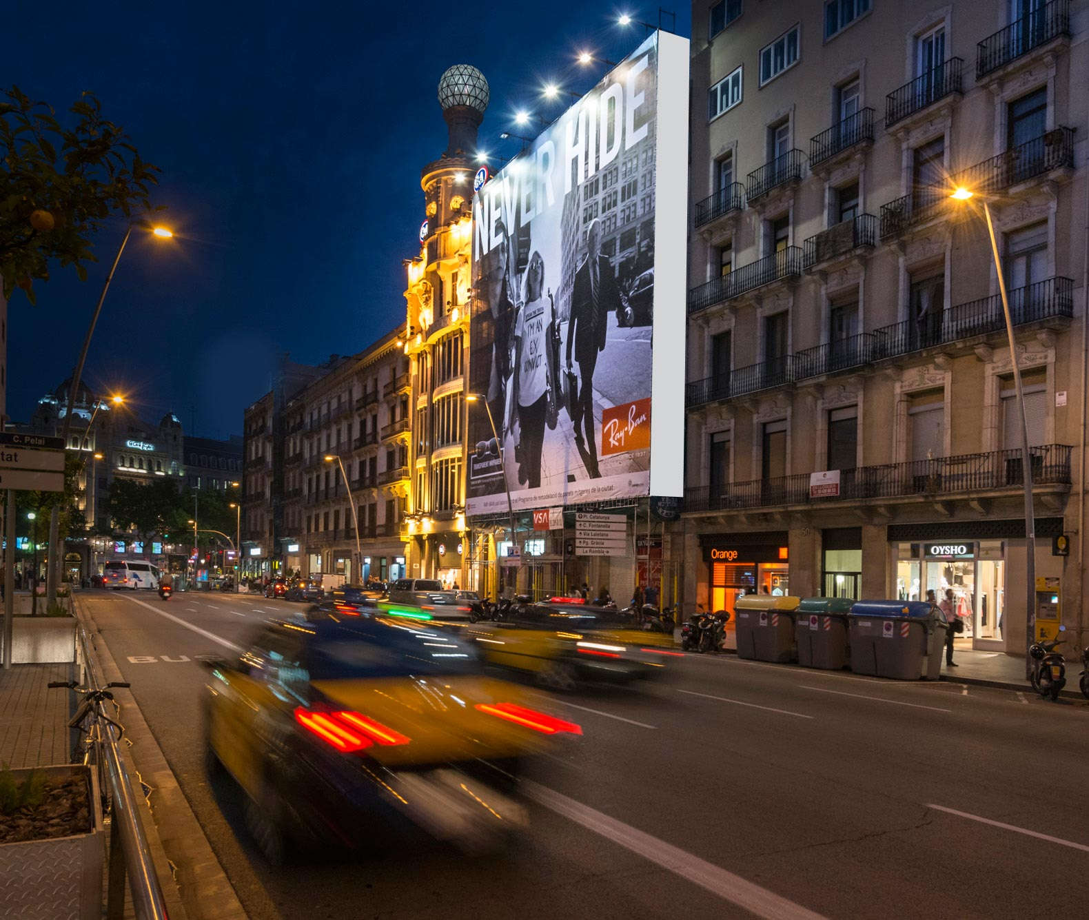 lona-publicitaria-barcelona-ray-ban-pelayo-2-vsa-comunicacion