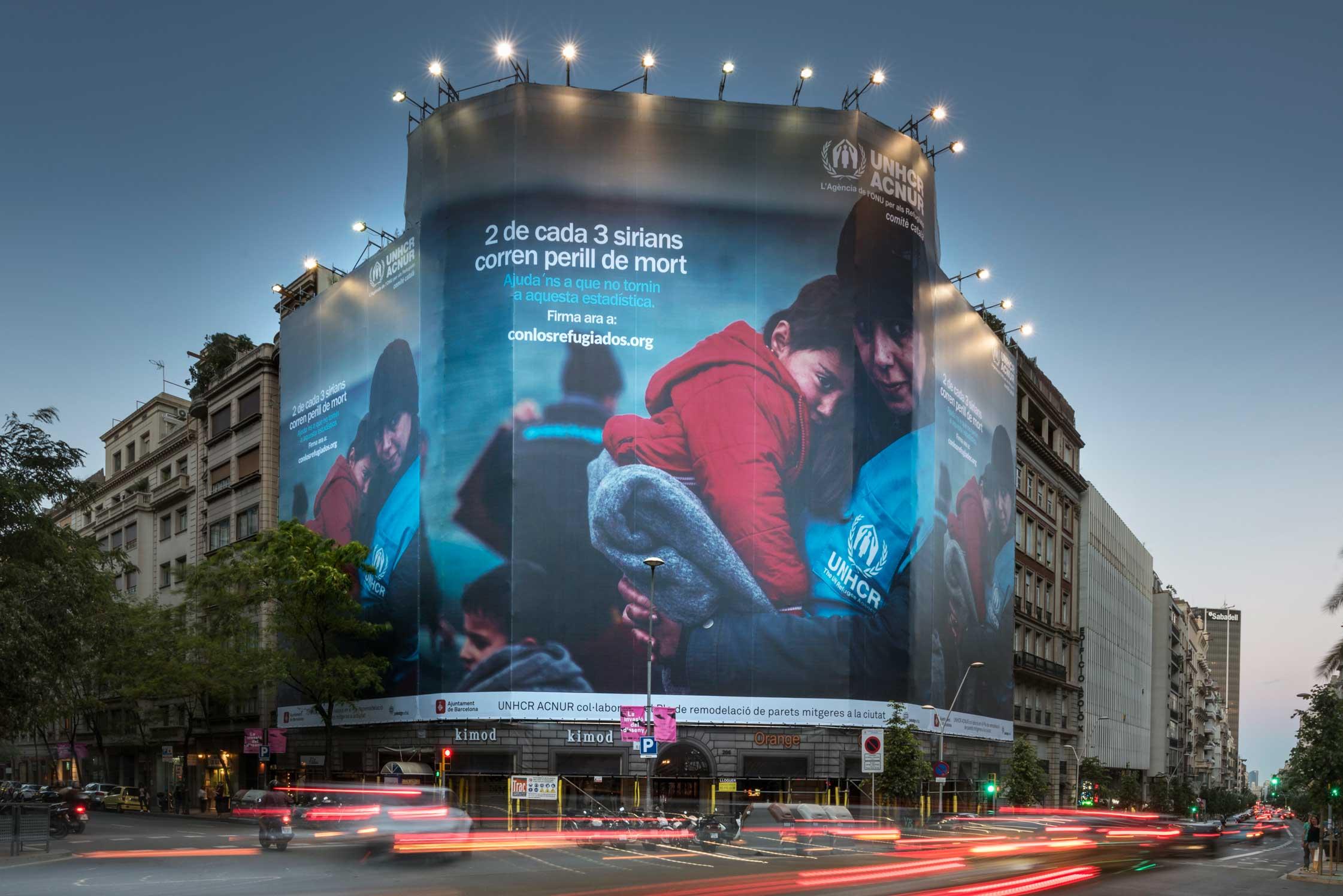 lona-publicitaria-barcelona-balmes-206-acnur-vsa-comunicacion